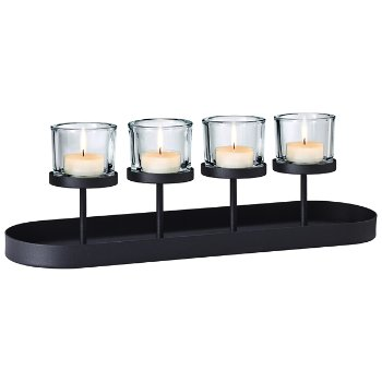 NERO Tealight Holder With Oval Tray Base