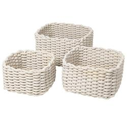 CORDA Crochet Basket Set, Sand