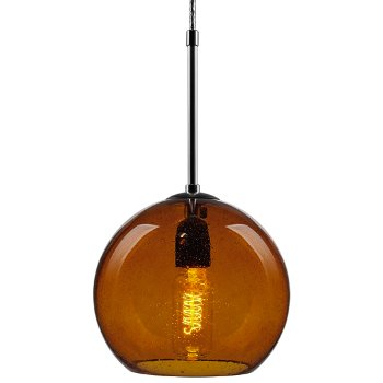 Shown in Amber shade, Chrome finish, Incandescent