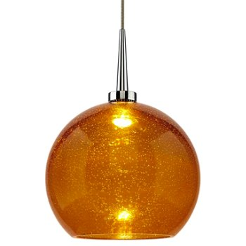 Shown in Chrome finish, Amber shade