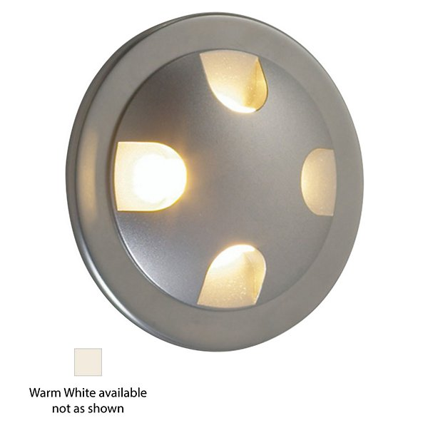 Ledra Quattro LED Recessed Wall Light (Warm White/Matte Chrome/J-Box) - OPEN BOX RETURN