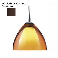 Rainbow II 120V Down Pendant Light (Orange/Bronze)- OPEN BOX