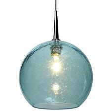 Bobo II Mini Pendant(Aqua/Matte Chrome/4In/Halogen)-OPEN BOX