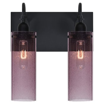 Shown lit in Plum Bubble shade, 2 Light