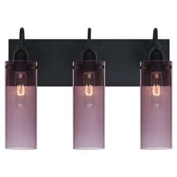Shown lit in Plum Bubble shade, 3 Light