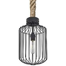 Sultana Cylinder Rope Pendant Light