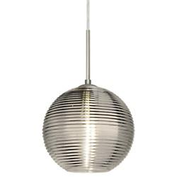 Kristall 8 Pendant (Smoke/Nickel/Flat w Cord/In) - OPEN BOX