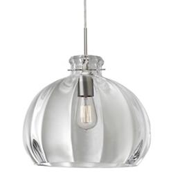 Pinta Pendant (Satin Nickel/Flat with Cord/Large) - OPEN BOX