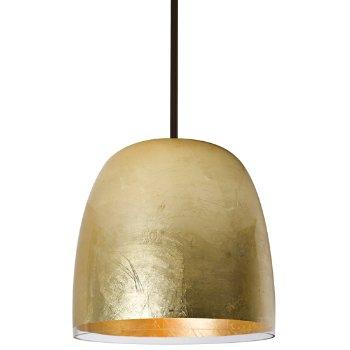 Shown in Gold foil finish, bronze stem