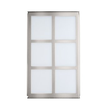 Shown in Satin white glass with Silver finish