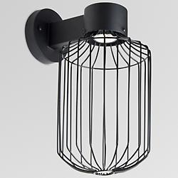Sultana Cylinder Outdoor Wall Sconce (Black)-OPEN BOX RETURN
