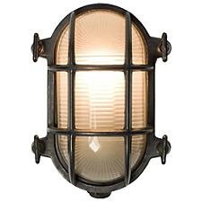 Oval Bulkhead Weathered Brass Wall Sconce - OPEN BOX RETURN