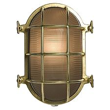 7035 Oval Brass Bulkhead Outdoor Wall Sconce