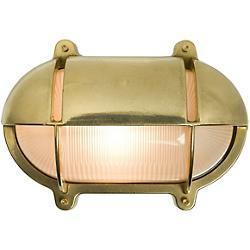 Oval Bulkhead Outdoor Wall Sconce (Brass) - OPEN BOX