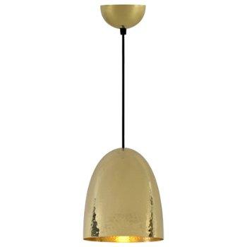 Shown in Hammered Brass finish, Medium size
