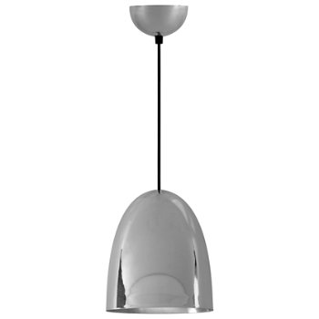 Shown in Polished Nickel Plated finish, Medium size