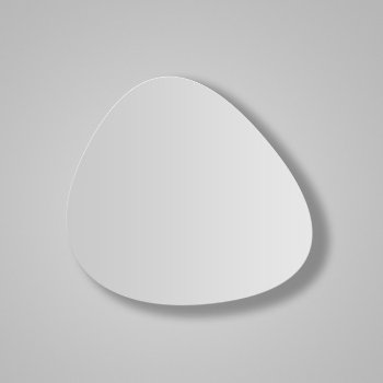 Shown in White Satin Lacquer finish, Large size