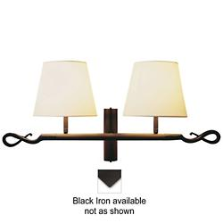 Ferrara 2 Luces Wall Sconce (Cotton/Black Iron) - OPEN BOX