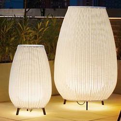Amphora Outdoor Floor Lamp (Beige/Small/ETL/Fluor)-OPEN BOX