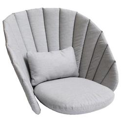 Peacock Lounge Chair Cushion Set