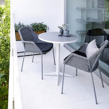 Breeze Stackable Armchair, in use