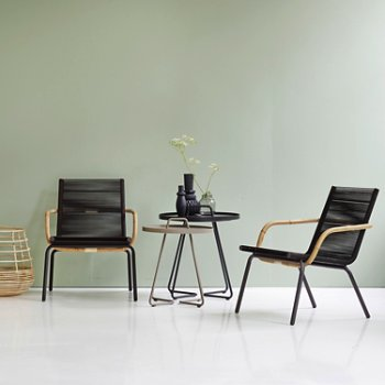 Shown in Brown pictured with the On the Move Side Tables and Sweep Round Rattan Basket (sold separately)