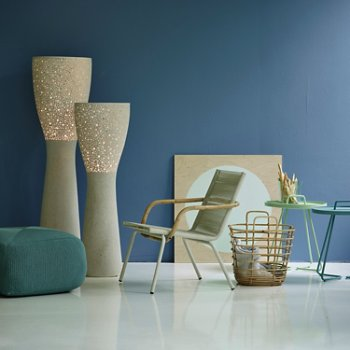 Shown in White pictured with the Divine Footstool, Light-up Floor Lamp, Sweep Rattan Basket and On the Move Side Tables (sold separately)