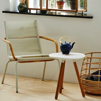 Shown in White pictured with the Area Tablestool and Sweep Round Rattan Basket (sold separately)