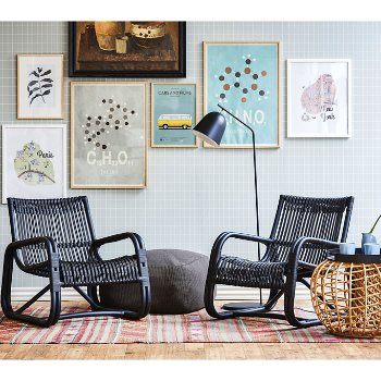 Rattan Black pictured with the Nest Footstool (sold separately)