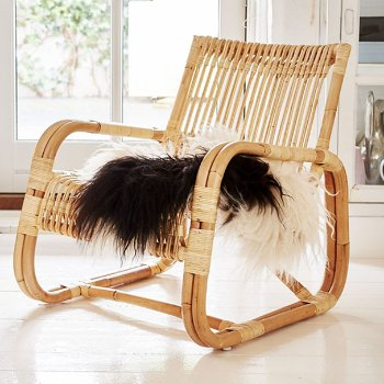Shown in Rattan Natural