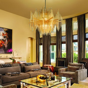 Theory Chandelier, in use