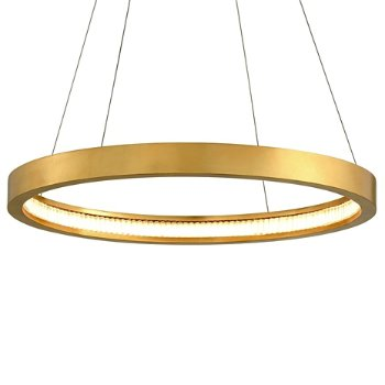 Shown in Gold Leaf finish, 28-In. Diameter