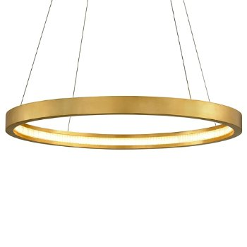 Shown in Gold Leaf finish, 36-In. Diameter