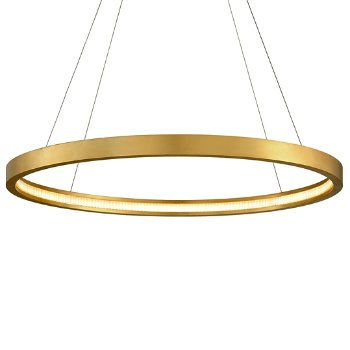 Shown in Gold Leaf finish, 44-In. Diameter