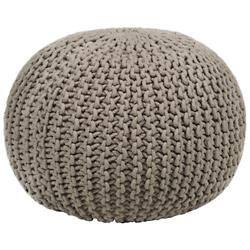 Contemporary Cotton Cord Pouf
