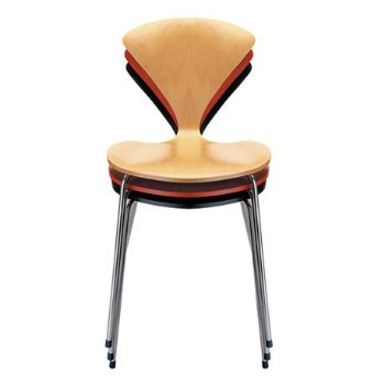 Cherner Metal Base Chair, Stacked