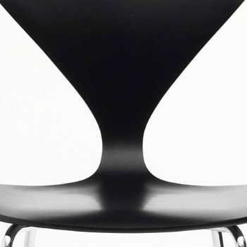 Shown in Ebony Lacquer Seat, Chrome Base option, Detail view