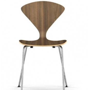 Shown in Natural Walnut Seat, Chrome Base option