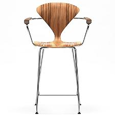 Cherner Metal Base Stool Armchair