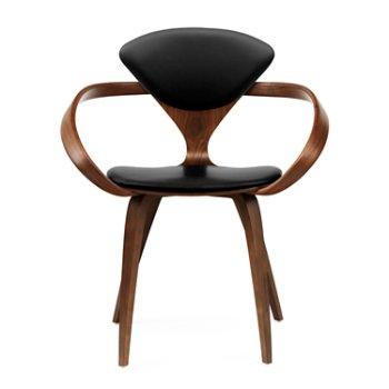 Classic Walnut Seat, Ebony Lacquer Arms & Legs