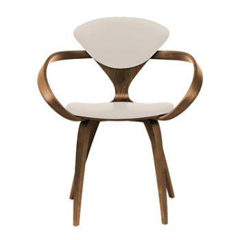 Shown in Natural Walnut Seat & Legs, Solid Walnut Arms, Vincenza Leather VZ-2122