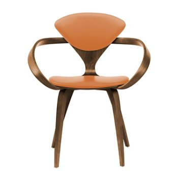 Shown in Natural Walnut Seat & Legs, Solid Walnut Arms, Vincenza Leather VZ-2125