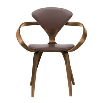 Shown in Natural Walnut Seat & Legs, Solid Walnut Arms, Vincenza Leather VZ-2115