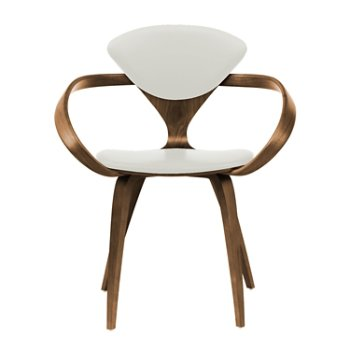 Shown in Natural Walnut Seat & Legs, Solid Walnut Arms, Divina 106