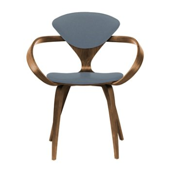 Shown in Natural Walnut Seat & Legs, Solid Walnut Arms, Divina 154