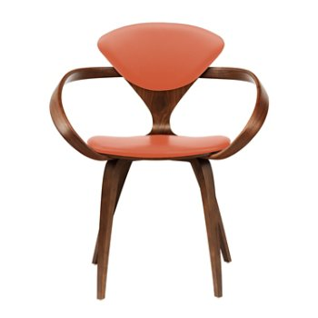 Shown in Classic Walnut, Sabrina Leather Robotic Orange