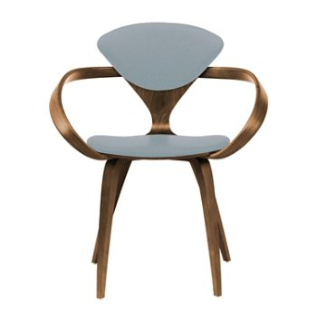 Shown in Natural Walnut Seat & Legs, Solid Walnut Arms, Divina 171