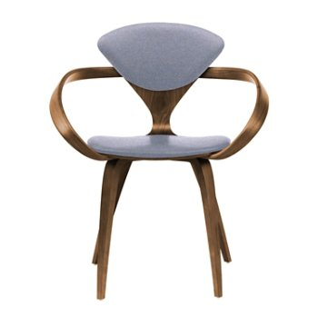 Shown in Natural Walnut Seat & Legs, Solid Walnut Arms, Divina 173