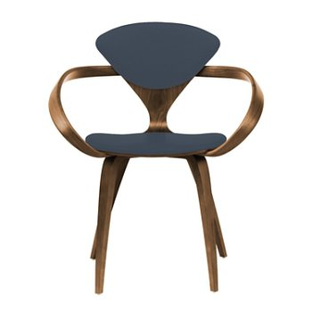 Shown in Natural Walnut Seat & Legs, Solid Walnut Arms, Divina 181