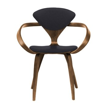 Shown in Natural Walnut Seat & Legs, Solid Walnut Arms, Divina 191